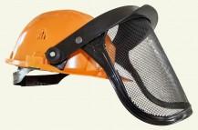 TIP100 orange helmet with Panorama mesh visor