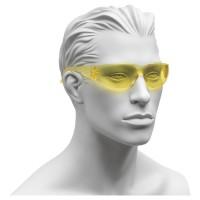 Schutzbrille mit PC-Scheiben, PC-Rahmen und gelben Gläsern