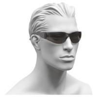 Schutzbrille, mit PC-Scheiben, PC-Rahmen und grauen Gläsern