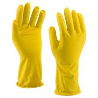 Háztartási gumikesztyű, sárga, 60 gr/pár