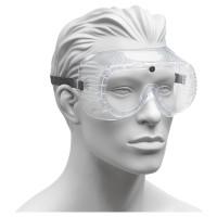 Schutzbrille mit Gummiband und Belüftungslöchern