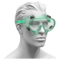 Schutzbrille mit Gummiband und Belüftungsöffnungen