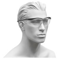 Klare Besucherbrille mit schwarzem Rahmen