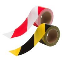 Bande de signalisation, rouge-blanche et jaune-noire