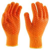 Handschoen met zig-zag coating