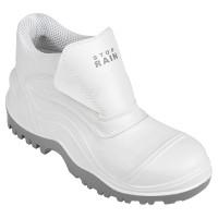 PVC S4 bakancs, fehér, bebújós, kombinált felsőrészű