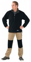 Polár pulóver, fekete/szürke