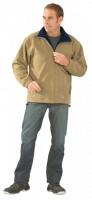 Bélelt polár pulóver, barna/kék