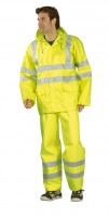 Eső elleni jólláthatósági dzseki, sárga